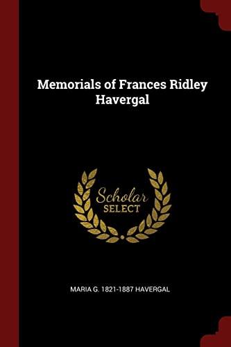 9781375913492: Memorials of Frances Ridley Havergal