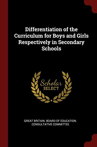 9781375967433: Differentiation of the Curriculum for Boys and Girls Respectively in Secondary Schools
