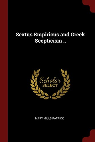 9781375976251: Sextus Empiricus and Greek Scepticism