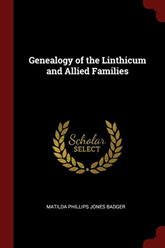 9781376055627: Genealogy of the Linthicum and Allied Families
