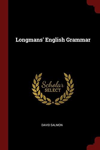 Longmans' English Grammar: Salmon, David