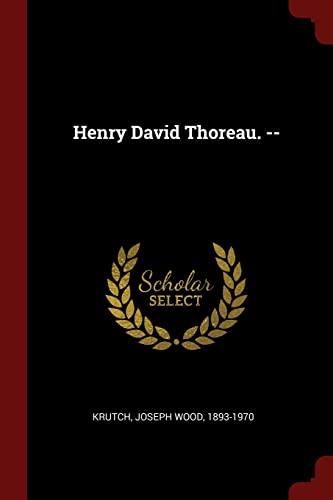 9781376152883: Henry David Thoreau. -