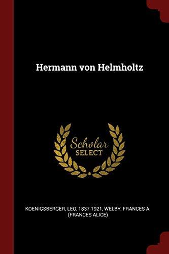 9781376153019: Hermann von Helmholtz