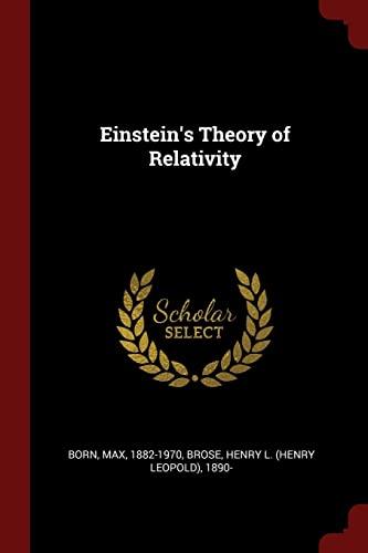 9781376156119: Einstein's Theory of Relativity