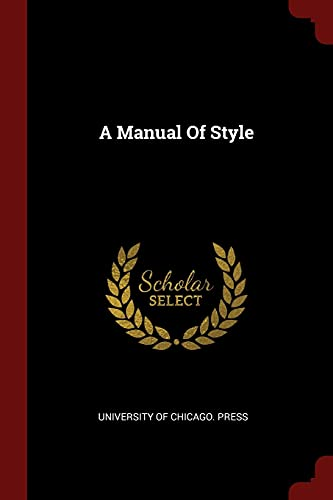 9781376181319: A Manual Of Style