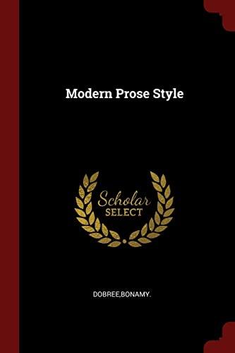 9781376182583: Modern Prose Style