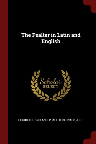 The Psalter in Latin and English (Paperback: Church of England