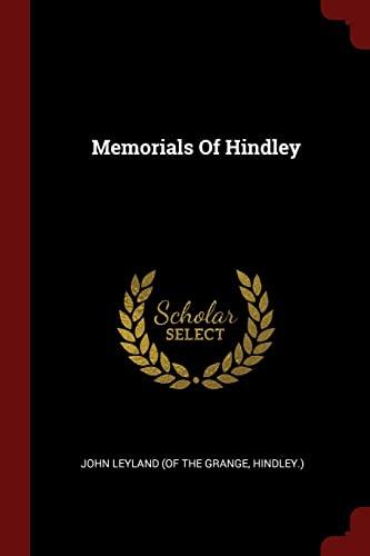 Memorials of Hindley: Hindley ) John