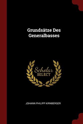 9781376254570: Grundsätze Des Generalbasses