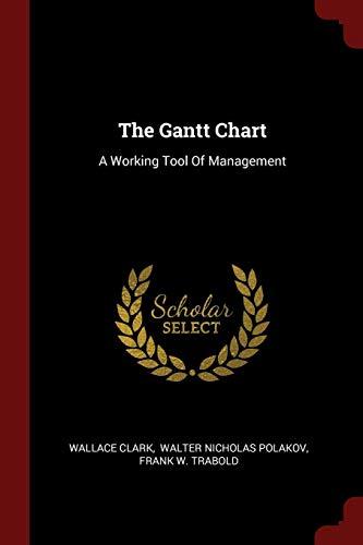 9781376301533: The Gantt Chart: A Working Tool Of Management