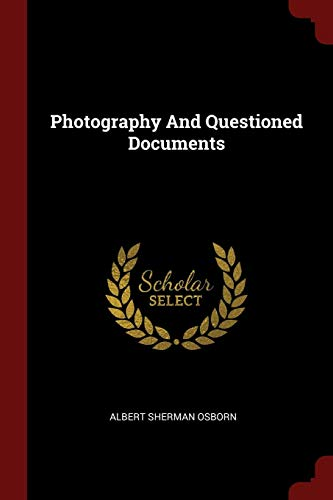 9781376324396: Photography And Questioned Documents