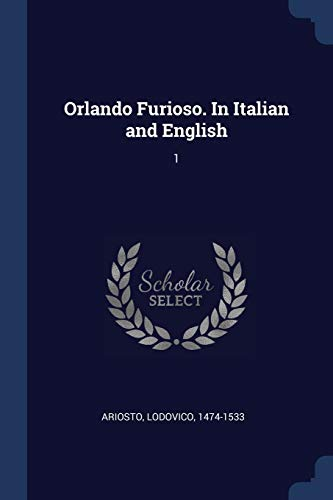 9781376738261: Orlando Furioso. In Italian and English: 1