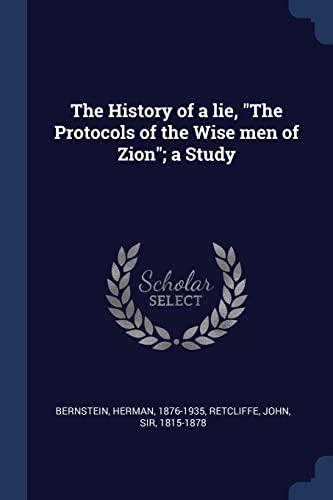 The History of a Lie, the Protocols: John Retcliffe, Herman