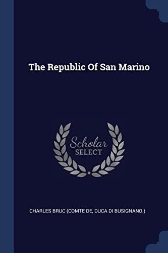9781377287409: The Republic Of San Marino