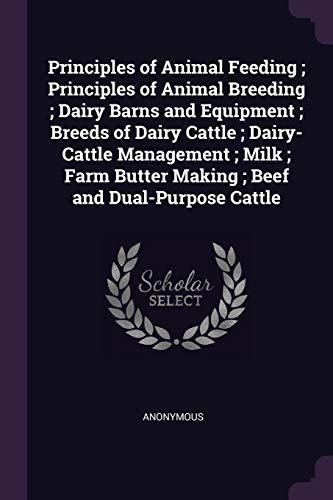 Principles of Animal Feeding; Principles of Animal: Anonymous