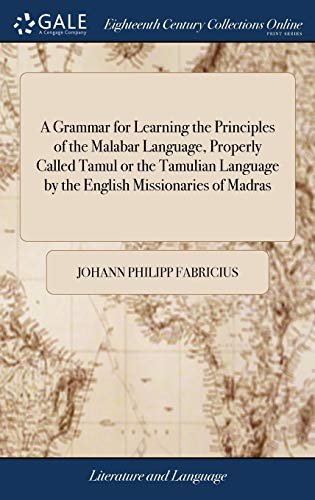 A Grammar for Learning the Principles of: Fabricius, Johann Philipp