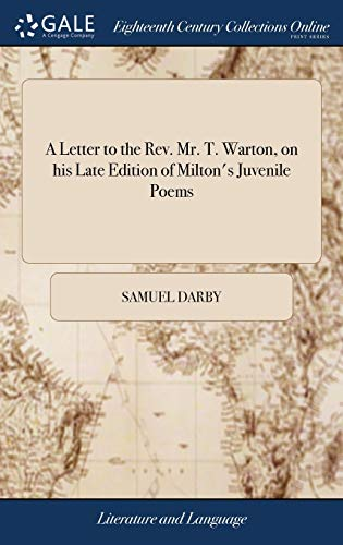 A Letter to the Rev. Mr. T.: Samuel Darby