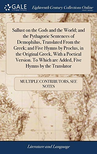 Sallust on the Gods and the World;: Multiple Contributors