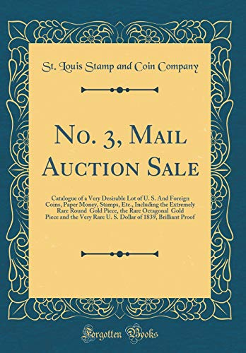 No. 3, Mail Auction Sale: Catalogue of: St. Louis Stamp