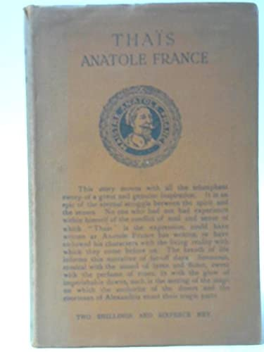 Thais: FRANCE, ANATOLE, illustrated