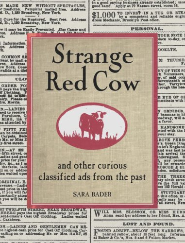 9781400051205: Strange Red Cow: And Other Curious Classified Ads From The Past