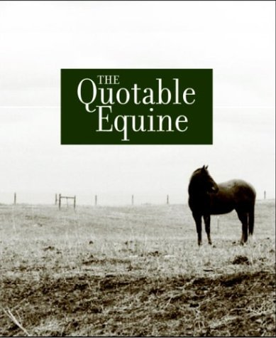 9781400052066: The Quotable Equine Tri-fold Vertical Note Cards (Potter Style)