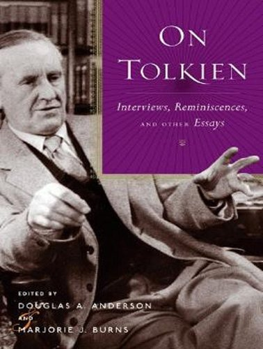 9781400106486: On Tolkien: Interviews, Reminiscences, and Other Essays