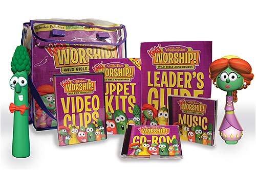 9781400314447: Veggietales Kids' Worship! Unit 2: Wild Bible Adventures: Children's Church or Large-Group Programming