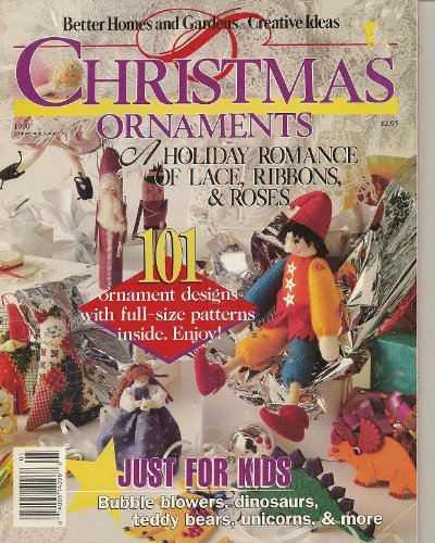 Better Homes and Gardens Creative Ideas Christmas Ornaments Magazine 1990 (101 Ornament designs ...