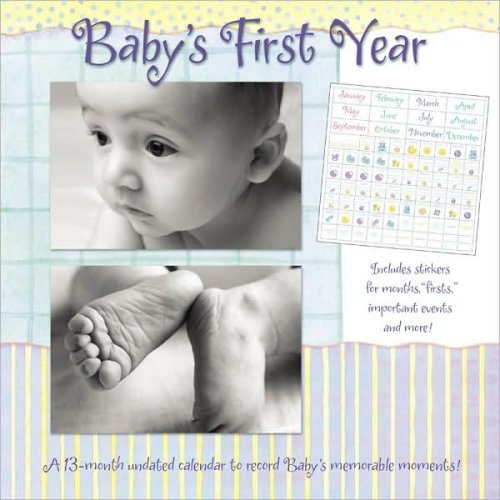 9781400915644: Baby's 1st Year: A 13-month Undated Calendar to Record Baby's Memorable Moments