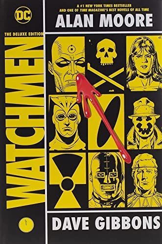 Watchmen: The Deluxe Edition HC Ultra Rare Signed Dave Gibbons With hand Drawn Sketch , Alan Moor...