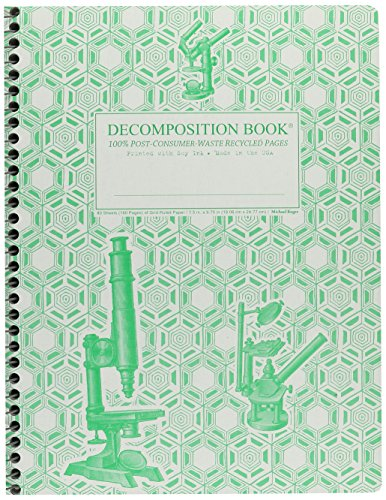 Microscopes Decomposition Book 9781401515737 This 7.5 by 9.75 inch Wirebound Decomposition Book by Michael Roger Press features Microscopes on the cover with a geometrical backgroun