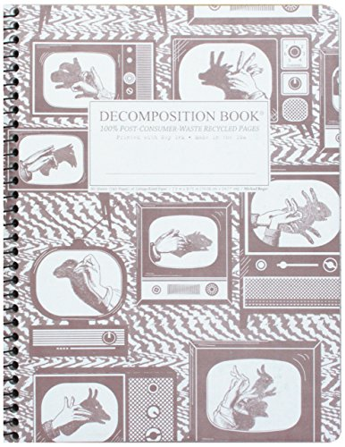 Shadow Puppets Decomposition Book 9781401515980 This 7.5 by 9.75 inch Wirebound Decomposition Book by Michael Roger Press features classic televisions with Hand Puppets portrayed illum