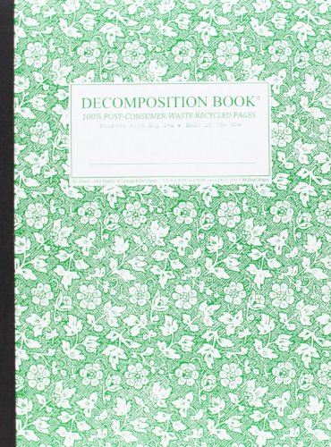 Parsley Decomposition Book: College-ruled Composition Notebook With 100 Post-Consumer-Waste ...