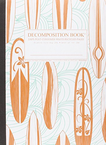 Classic Surfboards Decomposition Book: College-ruled Composition Notebook With 100% ...