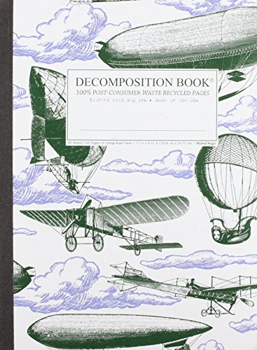 9781401543532: Airships Decomposition Book: College-Ruled Composition Notebook With 100% Post-Consumer-Waste Recycled Pages
