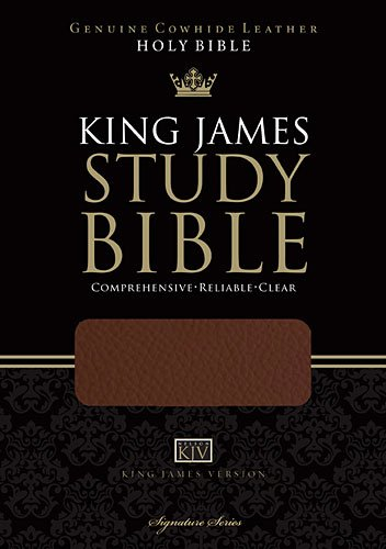 9781401675172: Holy Bible: King James Version Brown Genuine Leather Study Bible