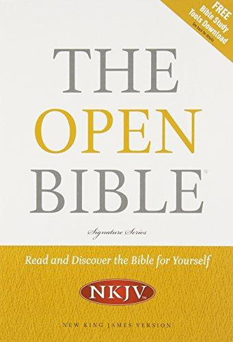 9781401675615: NKJV, The Open Bible, Bonded Leather, Black
