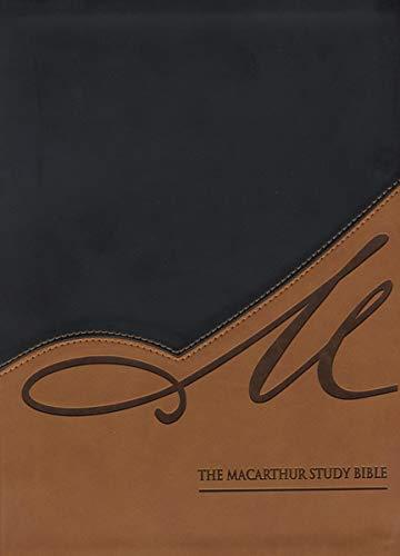 9781401677343: NASB, The MacArthur Study Bible, Imitation Leather, Black/Tan, Indexed