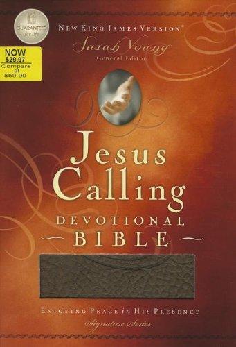 9781401678098: NKJV Jesus Calling Devotional Bible, Chocolagte, Soft Leather-look