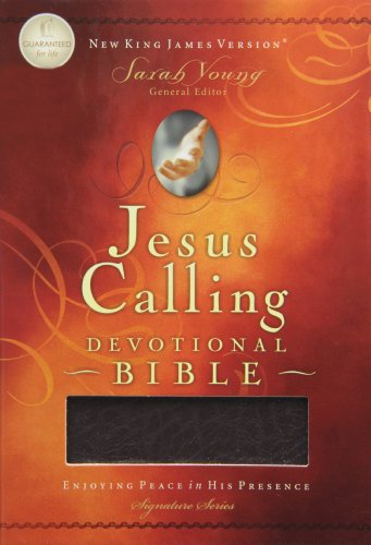 9781401678128: NKJV Jesus Calling Devotional Bible, Bugundy, Bonded Leather