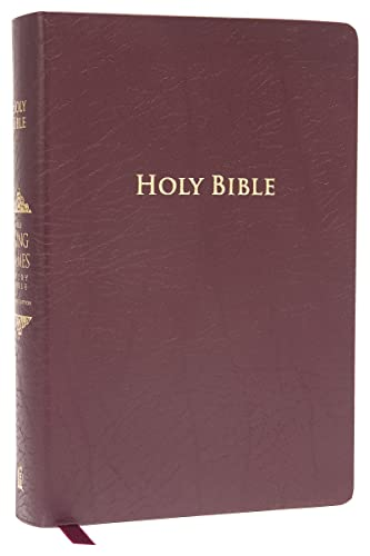 9781401679590: KJV Study Bible, Large Print, Bonded Leather, Burgundy, Red Letter Edition: Second Edition (Nelson KJV Signature)