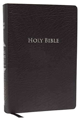 9781401680350: KJV Study Bible, Large Print, Bonded Leather, Black, Indexed, Red Letter Edition: Second Edition (Signature)