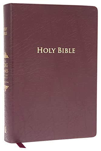 9781401680367: KJV Study Bible, Large Print, Bonded Leather, Burgundy, Indexed, Red Letter Edition: Second Edition
