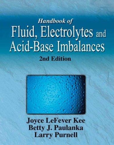 9781401810337: Handbook of Fluid, Electrolyte & Acid-Base Imbalances 2e