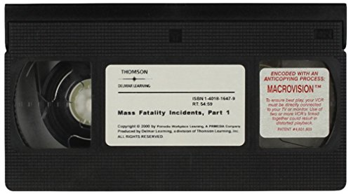 9781401816476: Mass Fatality Incidents [VHS]