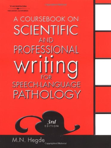 9781401818050: A Coursebook on Scientific and Professional Writing for Speech-Language Pathology