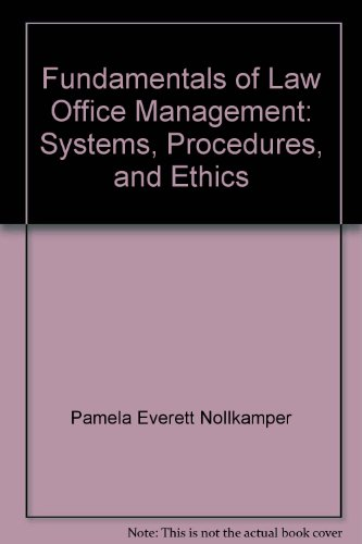 9781401824648: Fundamentals of Law Office Management: Systems, Procedures, and Ethics