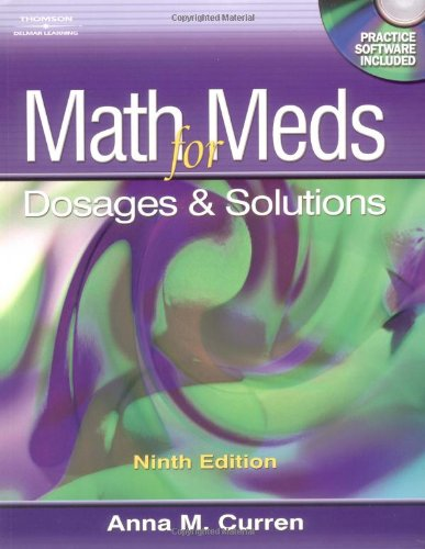 9781401831226: Math for Meds: Dosage and Solutions