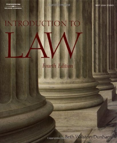 9781401834623: Introduction to Law (West Legal Studies Series)